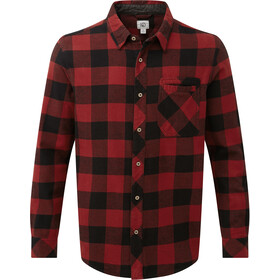 tentree Moncos Button-Up LS Shirt Herre Benson Plaid Meteorite